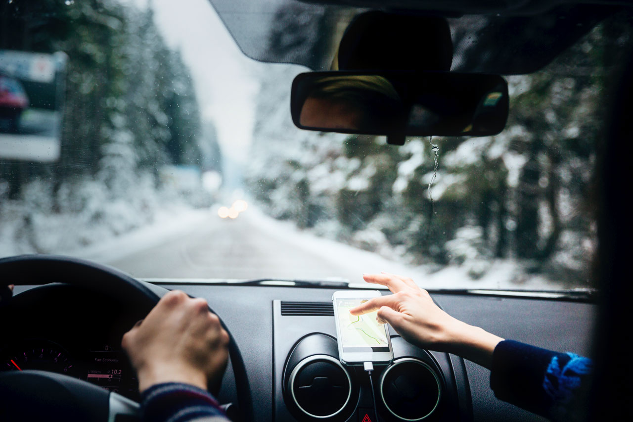 Driving in the Snow with Navigation