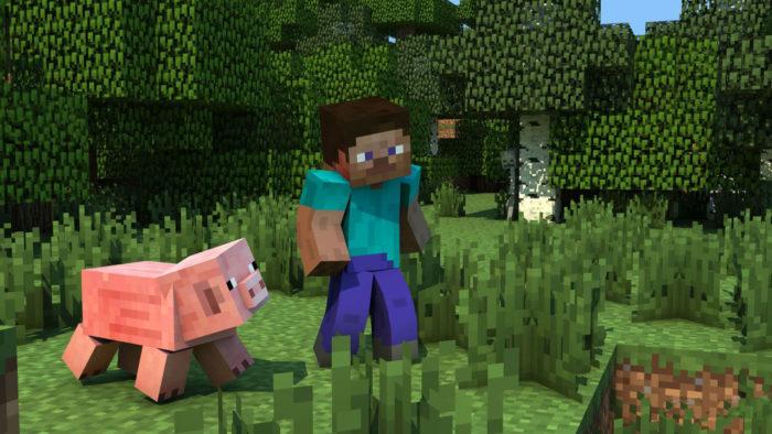 Minecraft - Pig and Steve